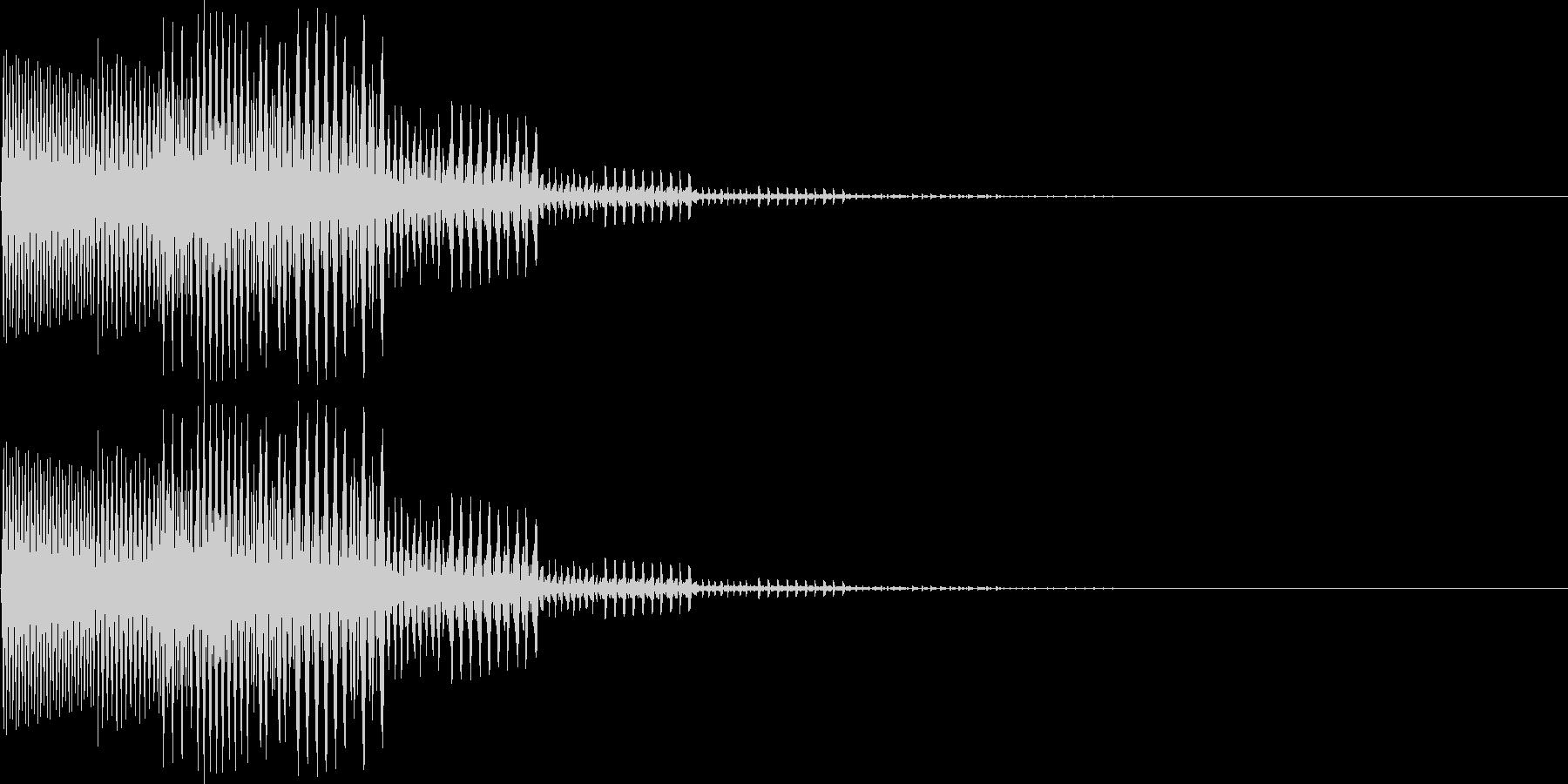 ピロロン低音(キャンセル、ミス、残念)の未再生の波形