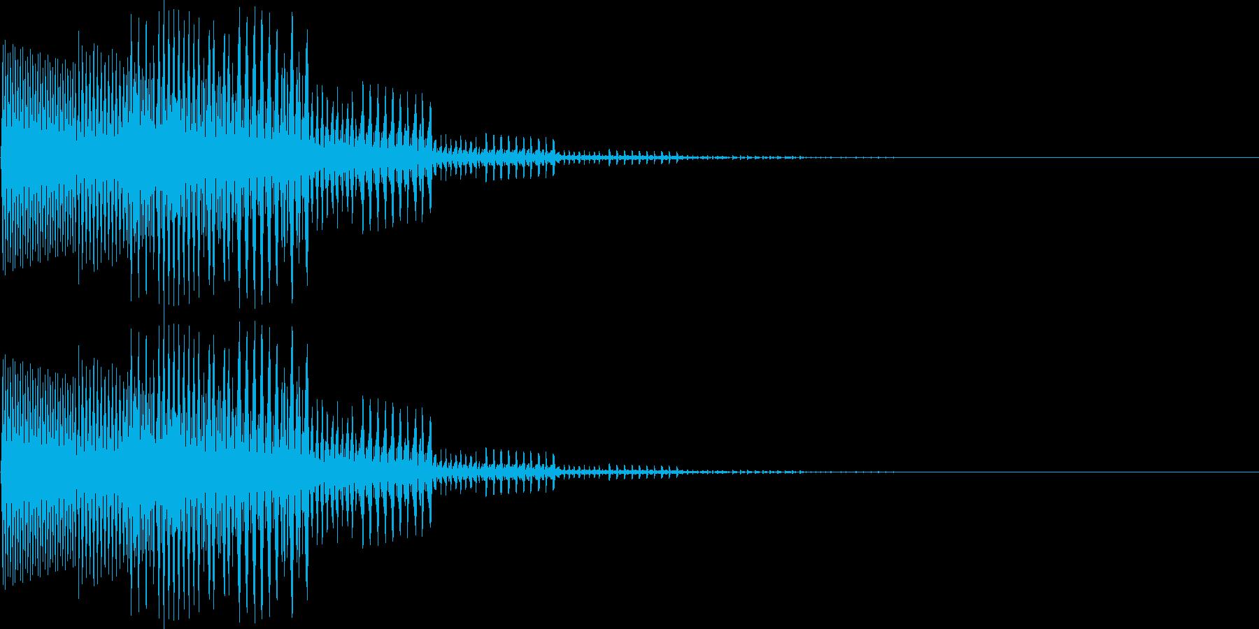 ピロロン低音(キャンセル、ミス、残念)の再生済みの波形