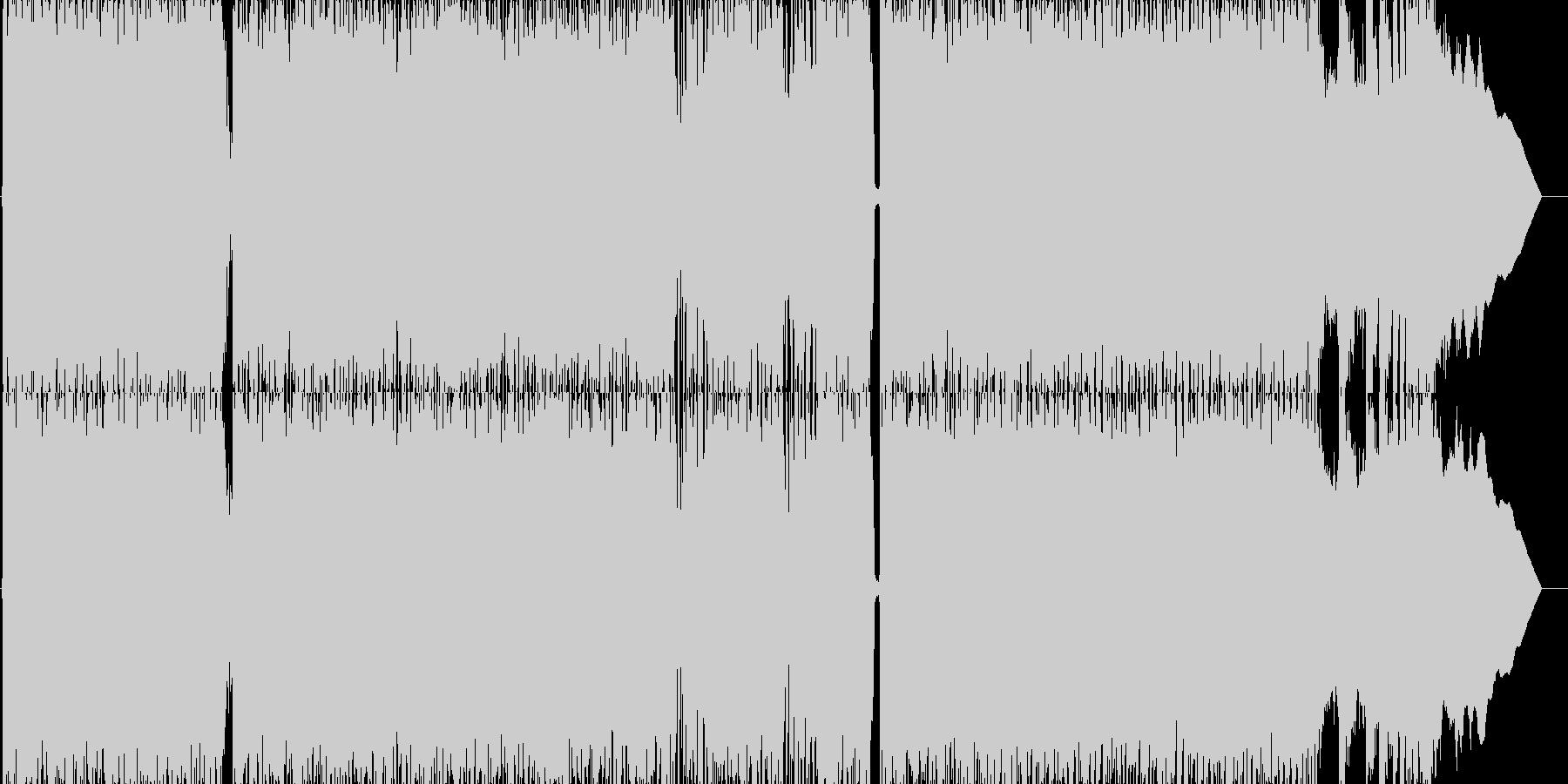 カントリー調の軽快なパンクロックの未再生の波形