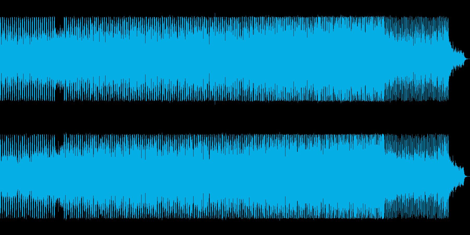 躍動感のあるユーロ系テクノの再生済みの波形
