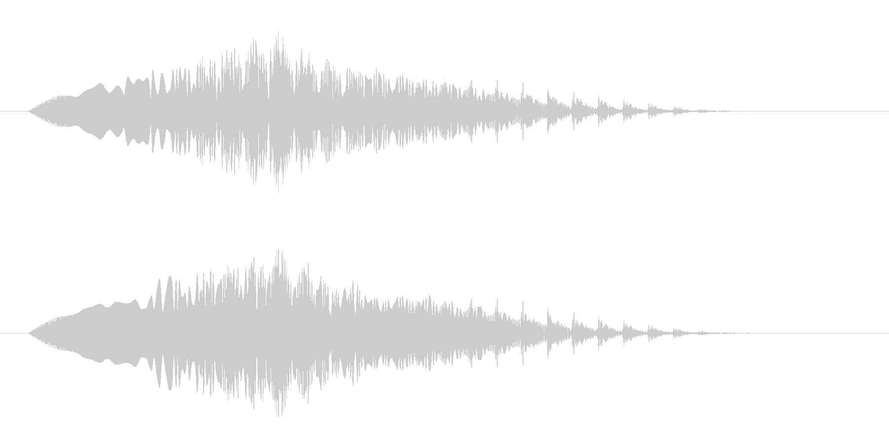 フワンフワン(宇宙、落下、回転)の未再生の波形