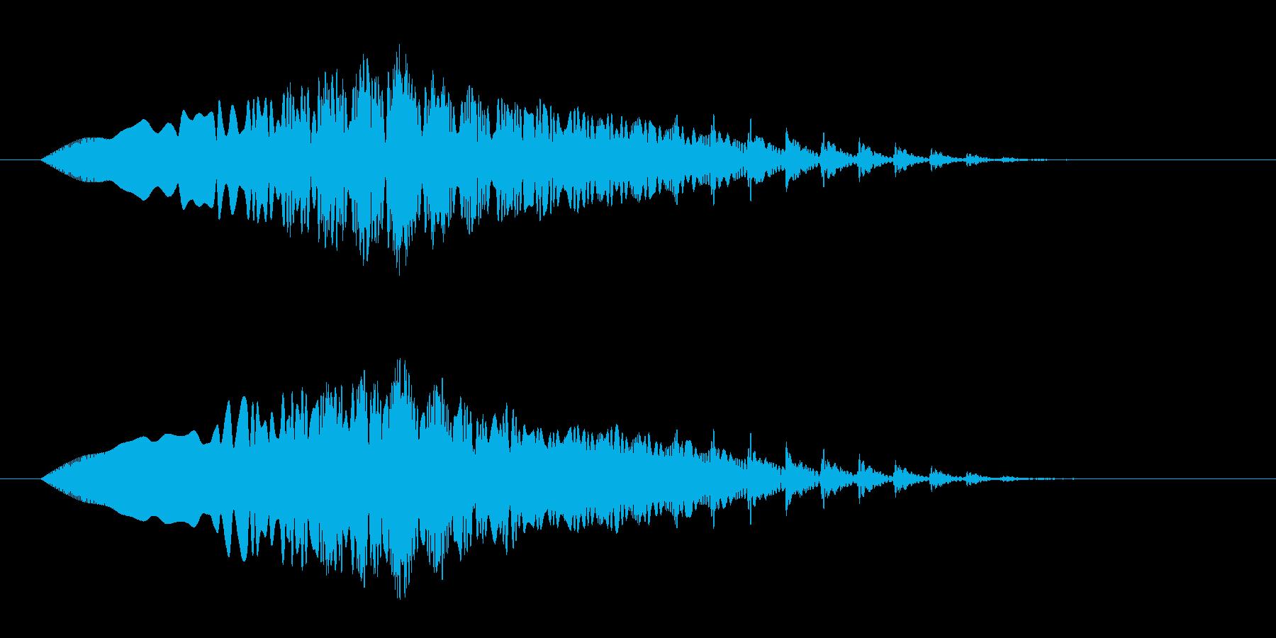 フワンフワン(宇宙、落下、回転)の再生済みの波形