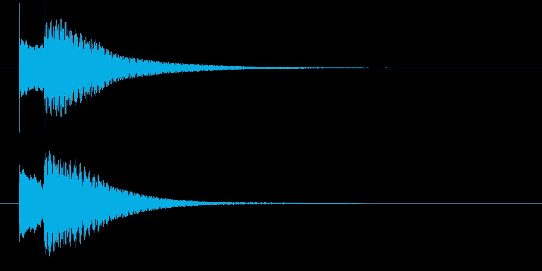 コイン・宝石を獲得する音(チャリーン)の再生済みの波形