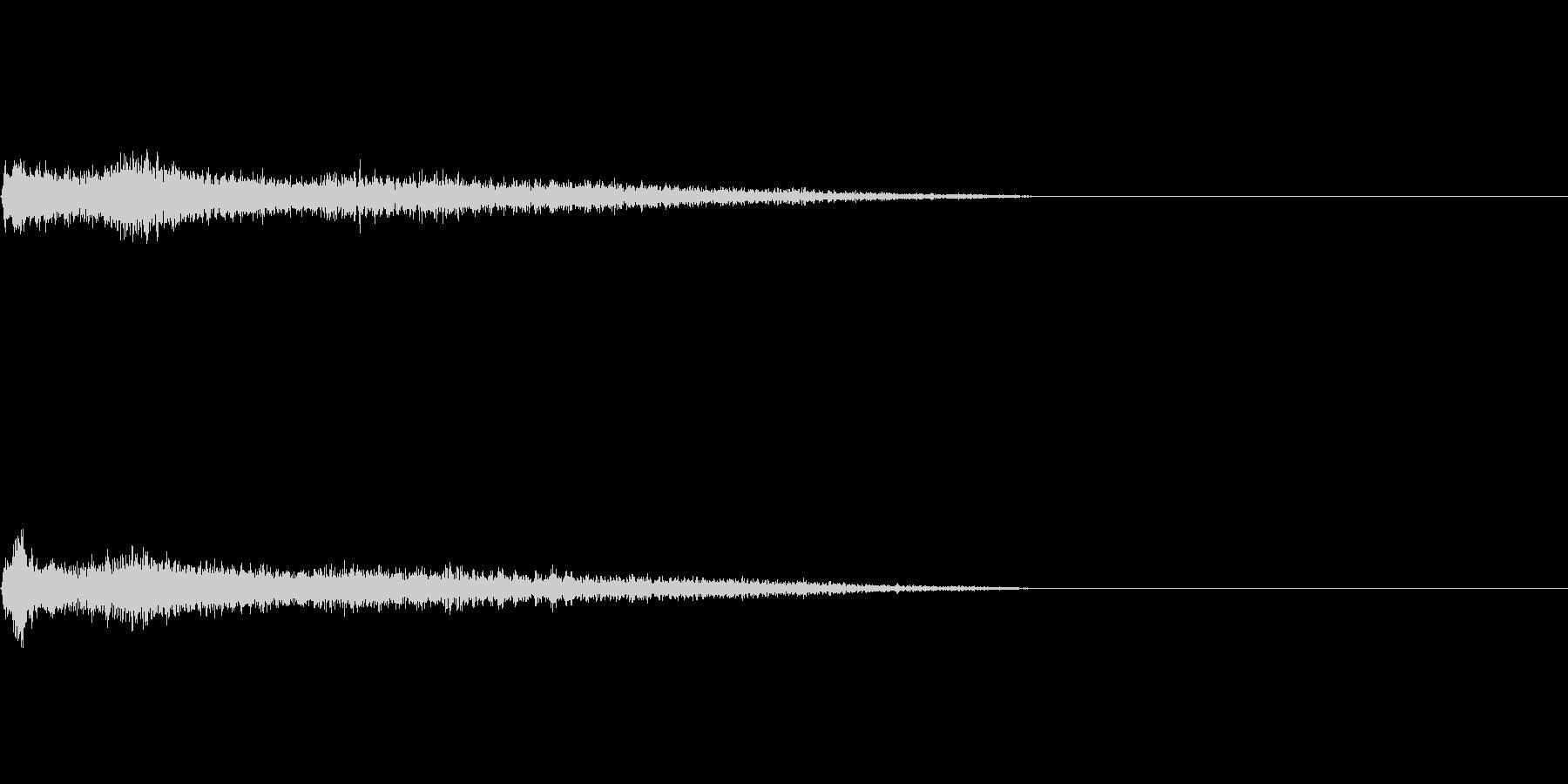 C♯メジャー インパクト音 衝撃音の未再生の波形