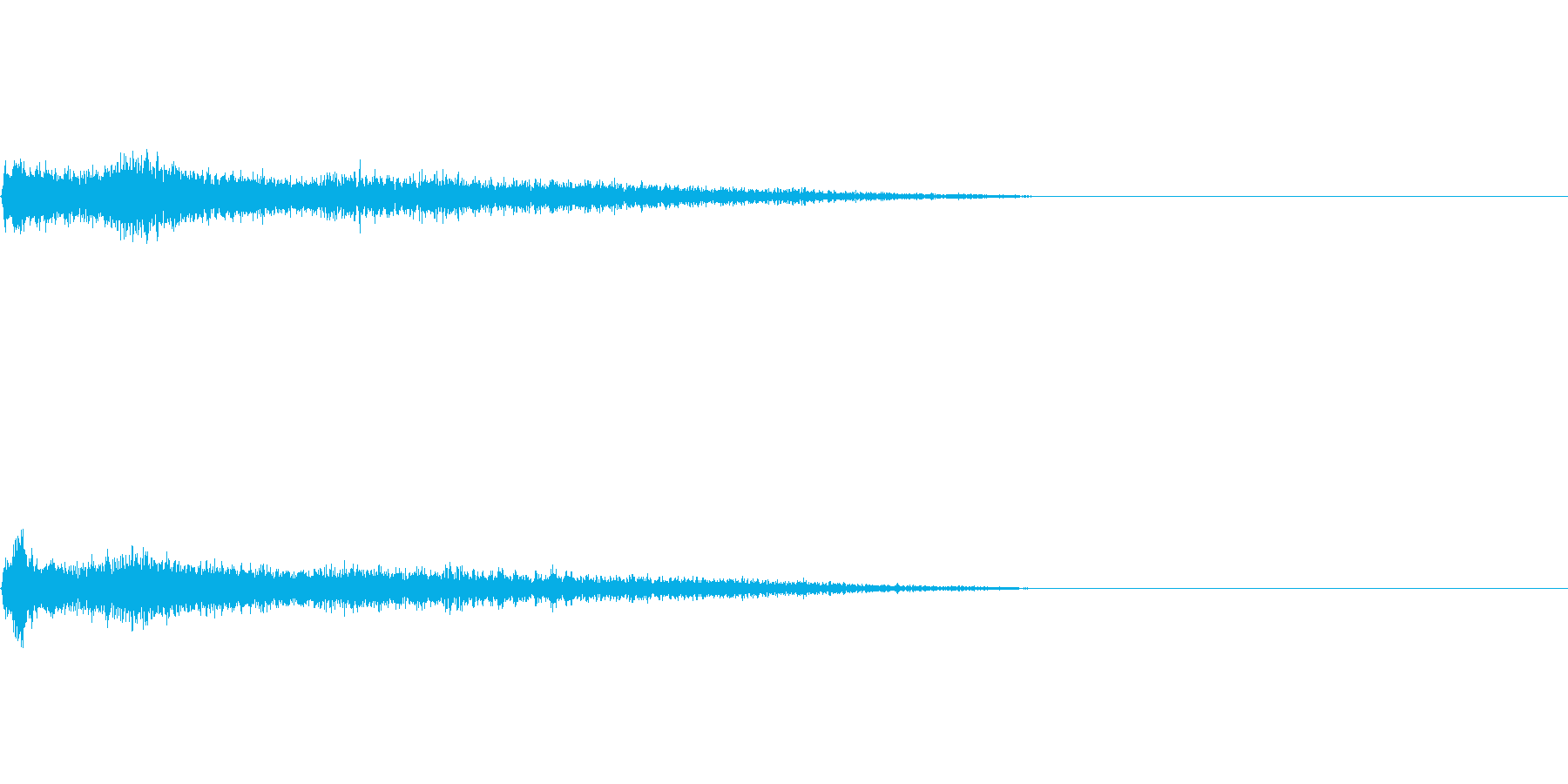 C♯メジャー インパクト音 衝撃音の再生済みの波形