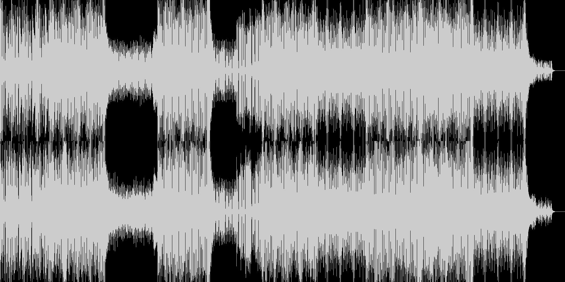 グルーヴ感と展開が印象的なピアノテクノの未再生の波形