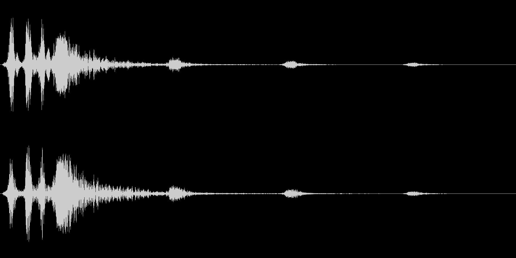 バババヒューン(風切りアクション音)の未再生の波形