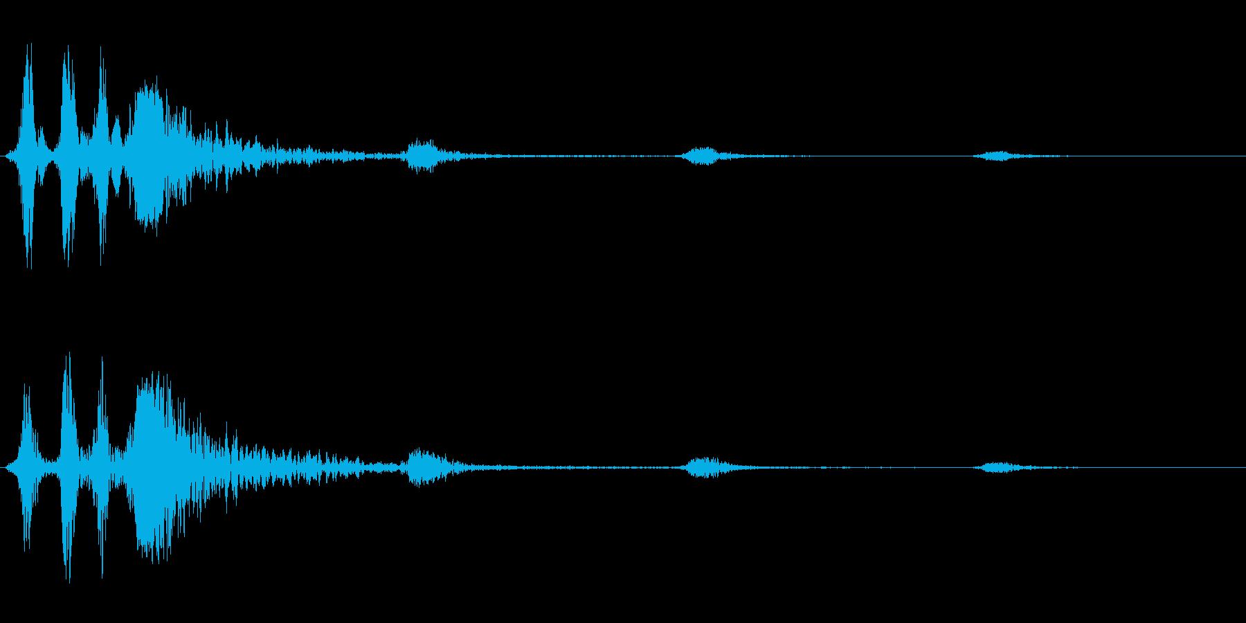 バババヒューン(風切りアクション音)の再生済みの波形
