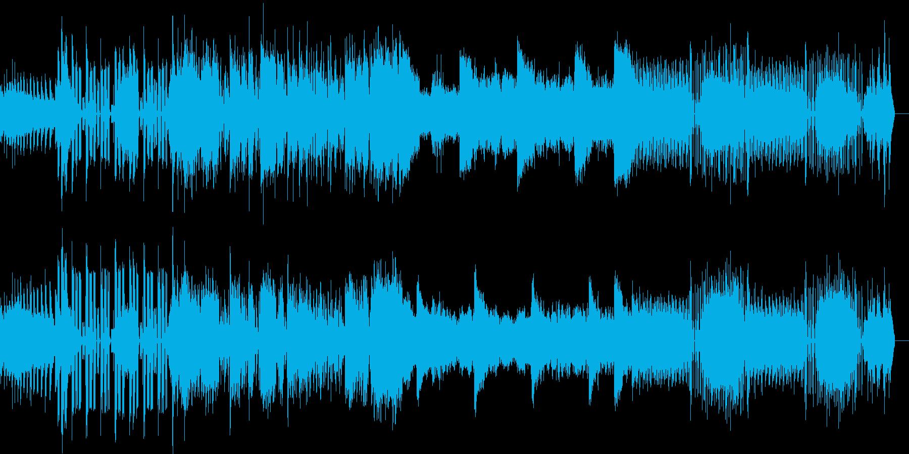 効果音のみで作られた実験的アンビエントの再生済みの波形