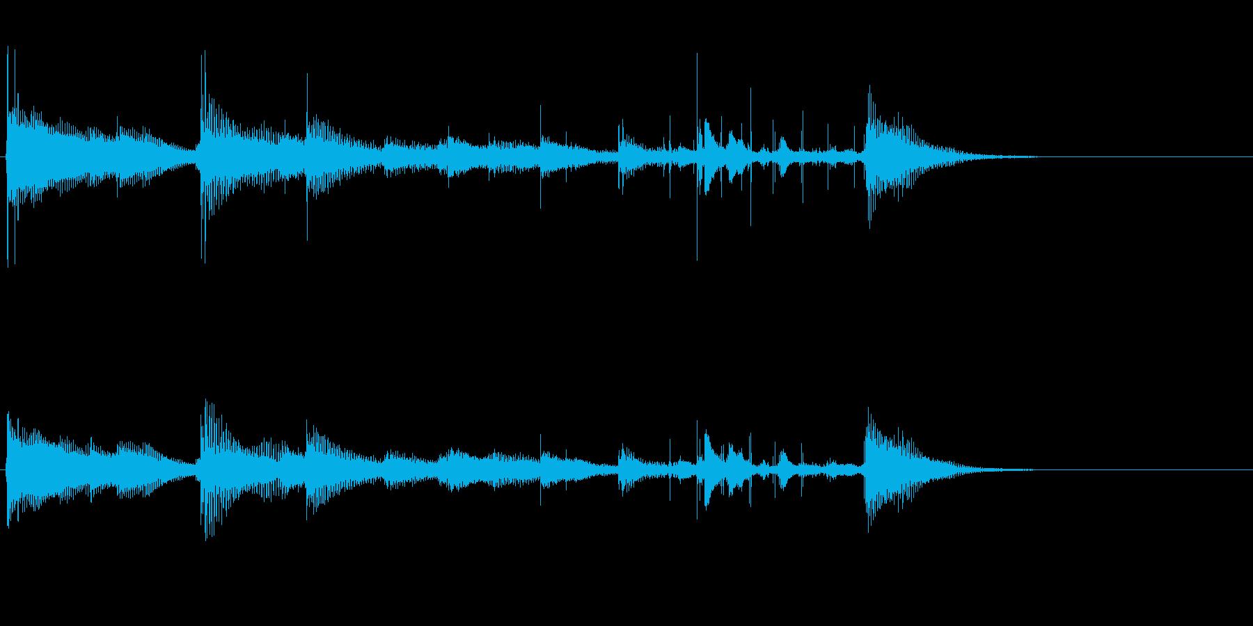 8bitゲーム風アイキャッチ音の再生済みの波形
