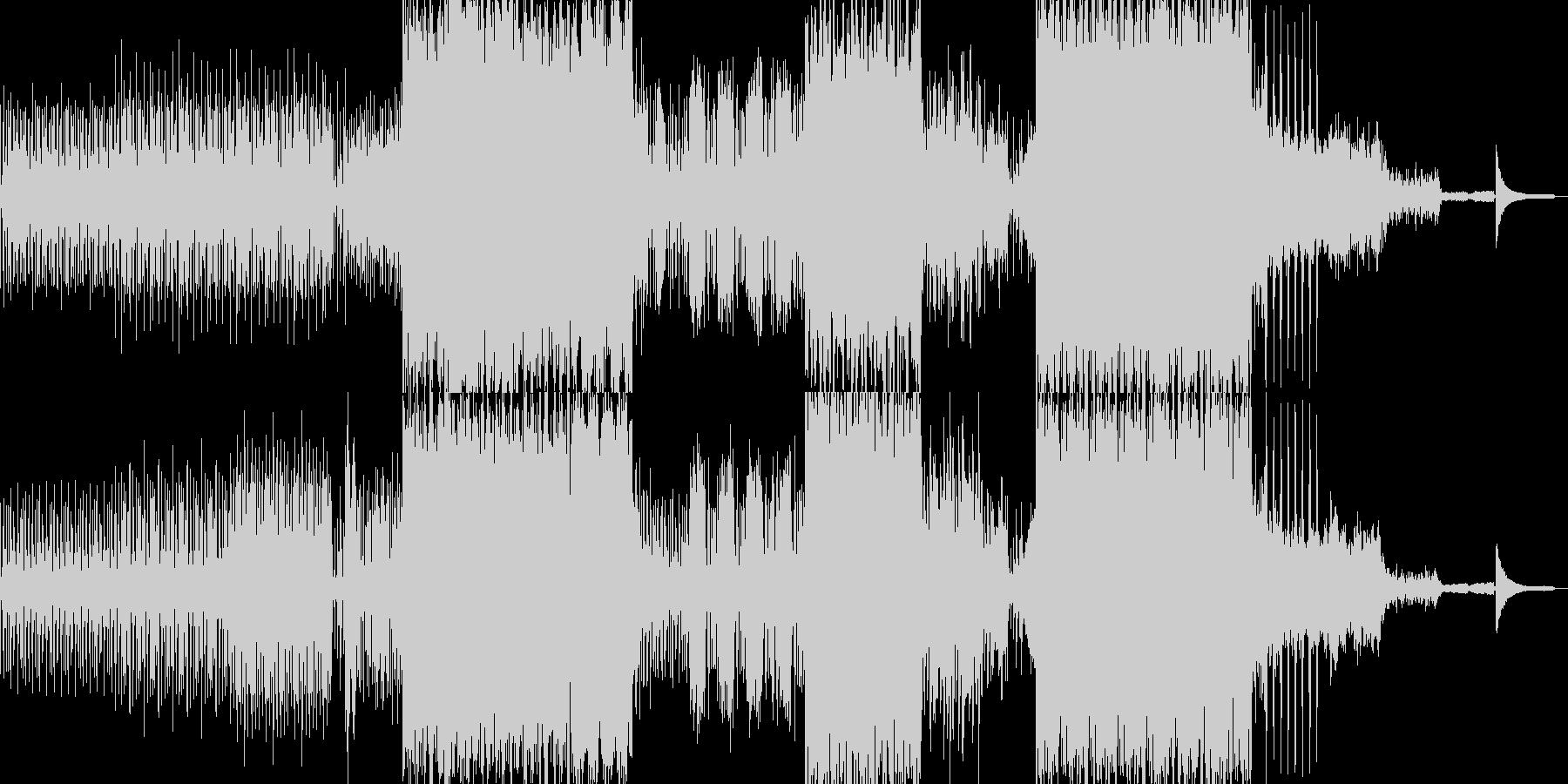 スラップ風のベースが引っ張るBGMの未再生の波形