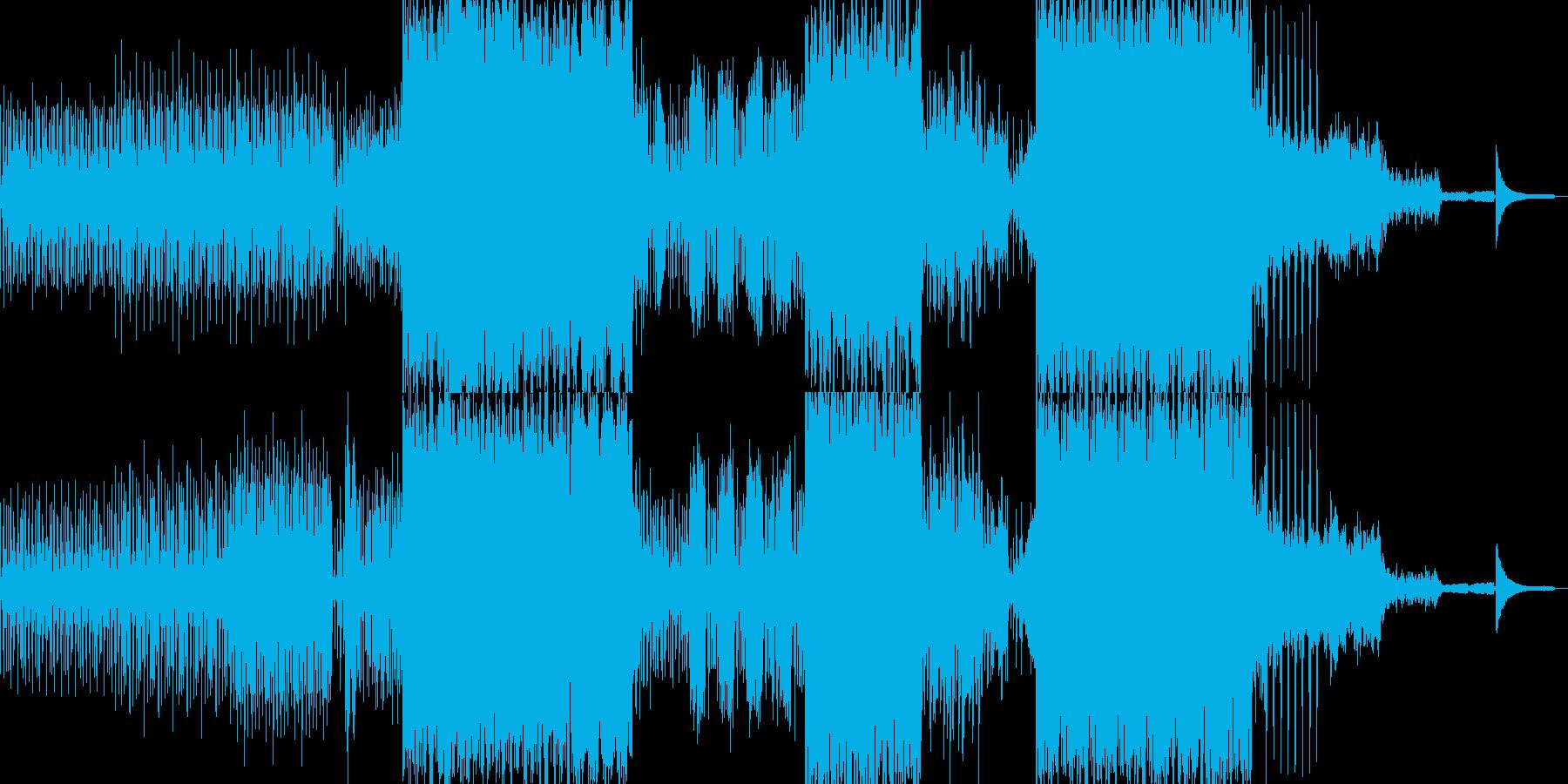スラップ風のベースが引っ張るBGMの再生済みの波形
