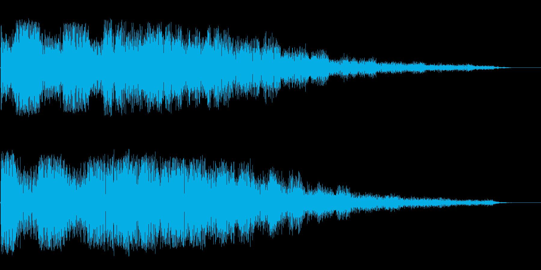 異世界を感じさせる不思議な音の再生済みの波形