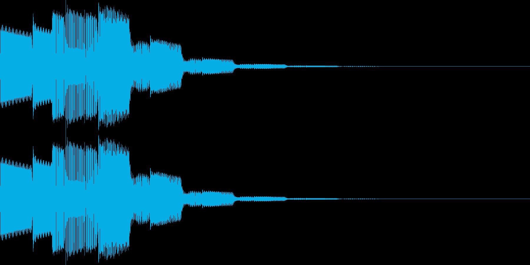 決定、一時停止(ピロリローン)の再生済みの波形