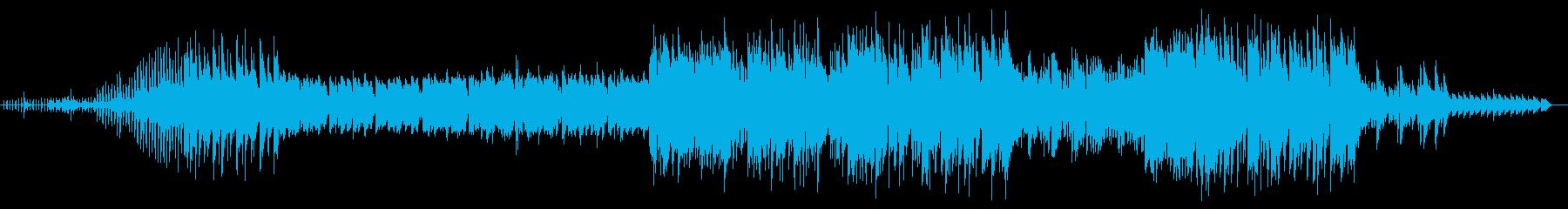 ゆったり優しいシンセサイザーサウンドの再生済みの波形