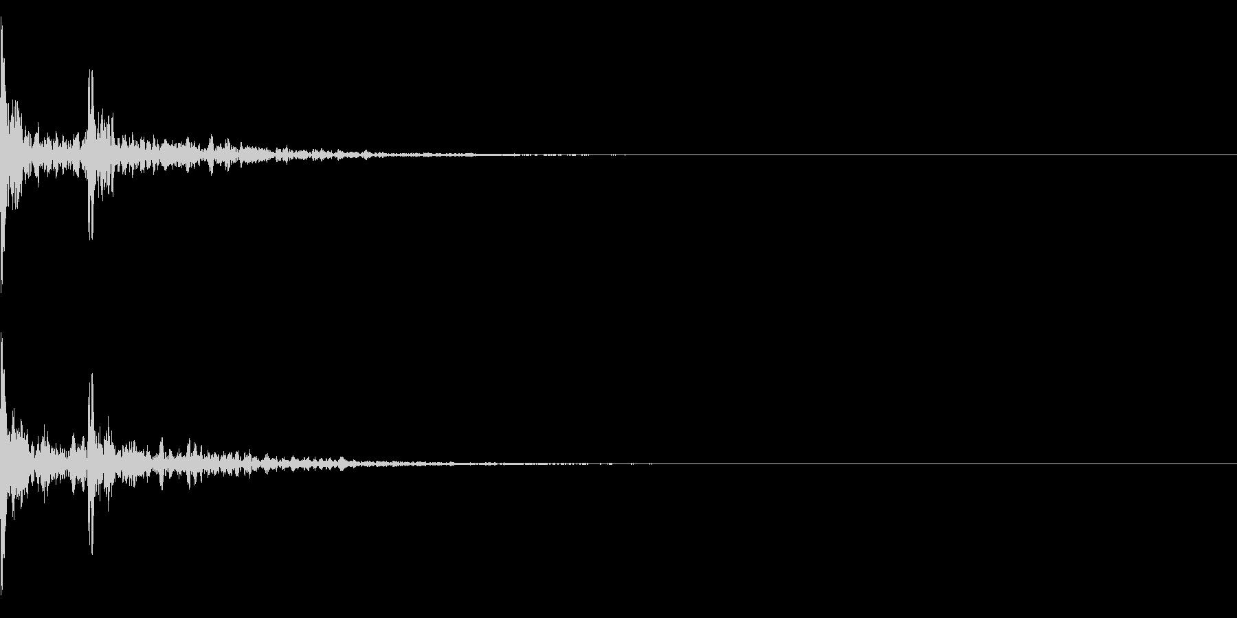和風「カカーン」拍子木の音の未再生の波形