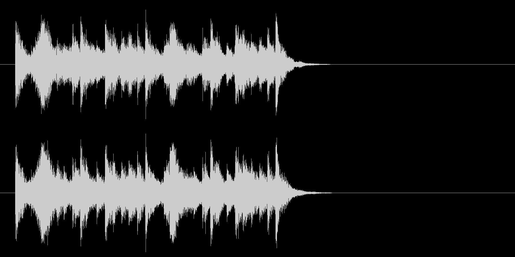 コーナー・エンド風ピアノジャズのジングルの未再生の波形