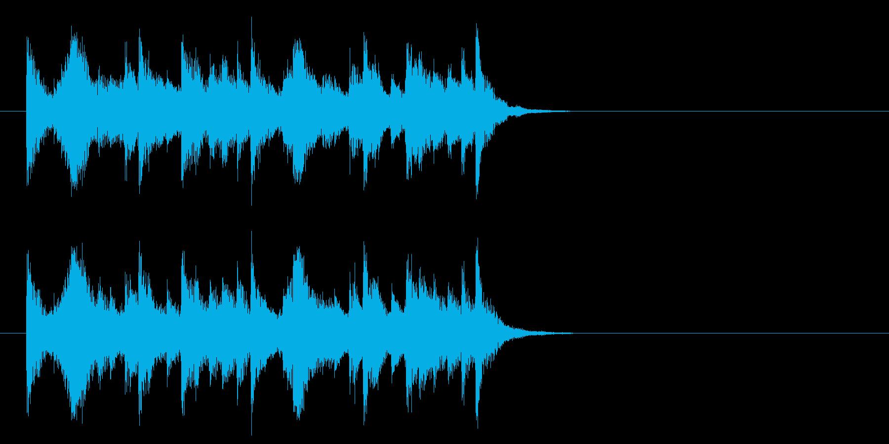 コーナー・エンド風ピアノジャズのジングルの再生済みの波形