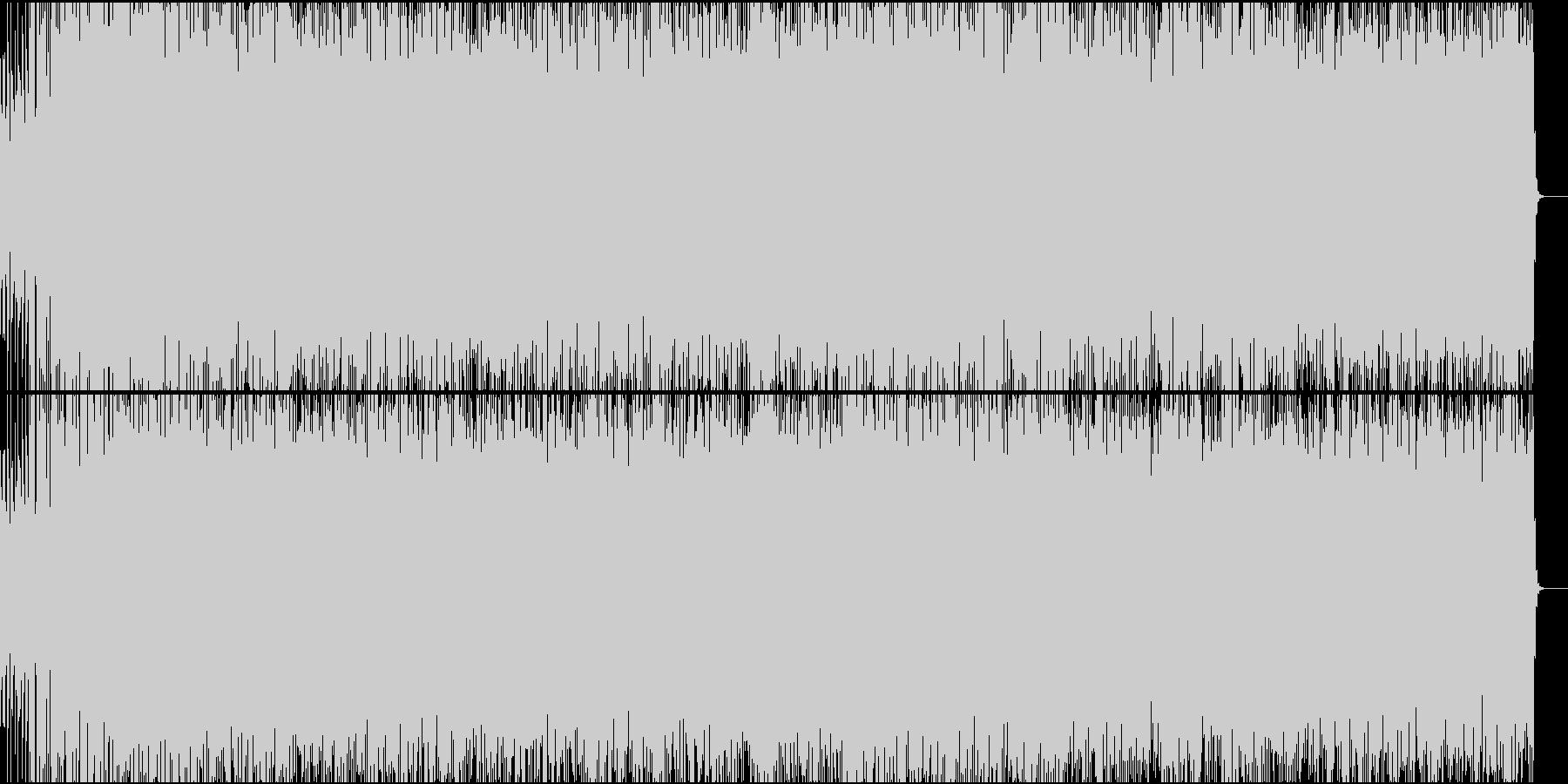 荒荒しい、ギターサウンドとリズムの未再生の波形