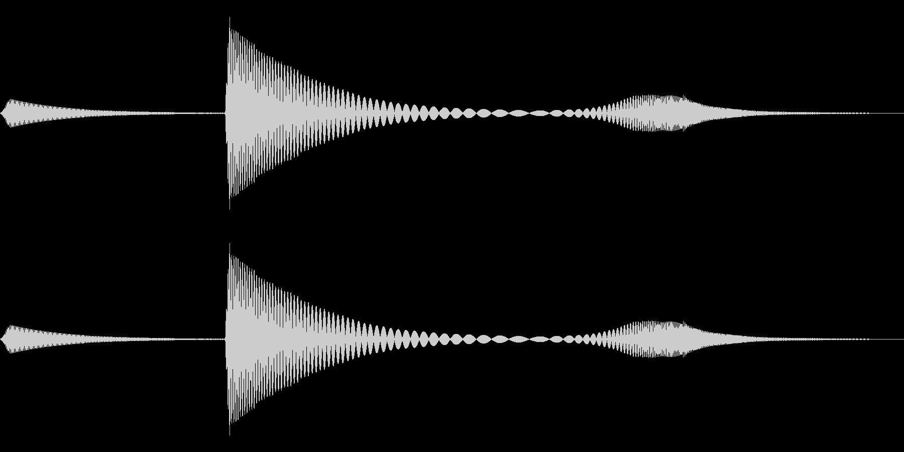 ペニャッ(やわらかボタン・ゆるかわ)の未再生の波形