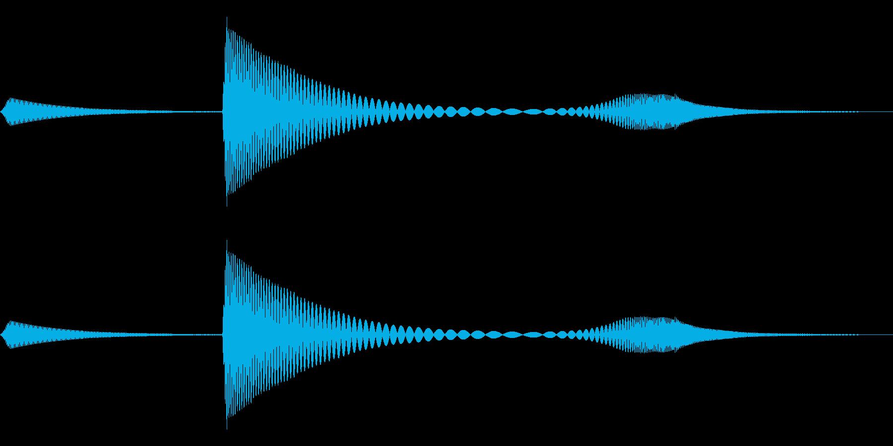 ペニャッ(やわらかボタン・ゆるかわ)の再生済みの波形