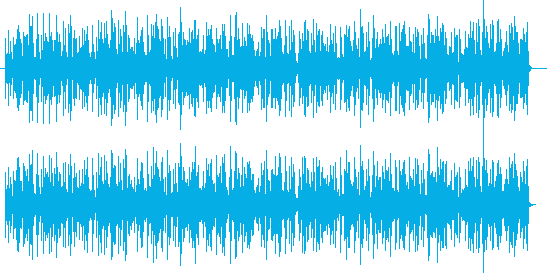 デジタルテクノ感あるBGMの再生済みの波形