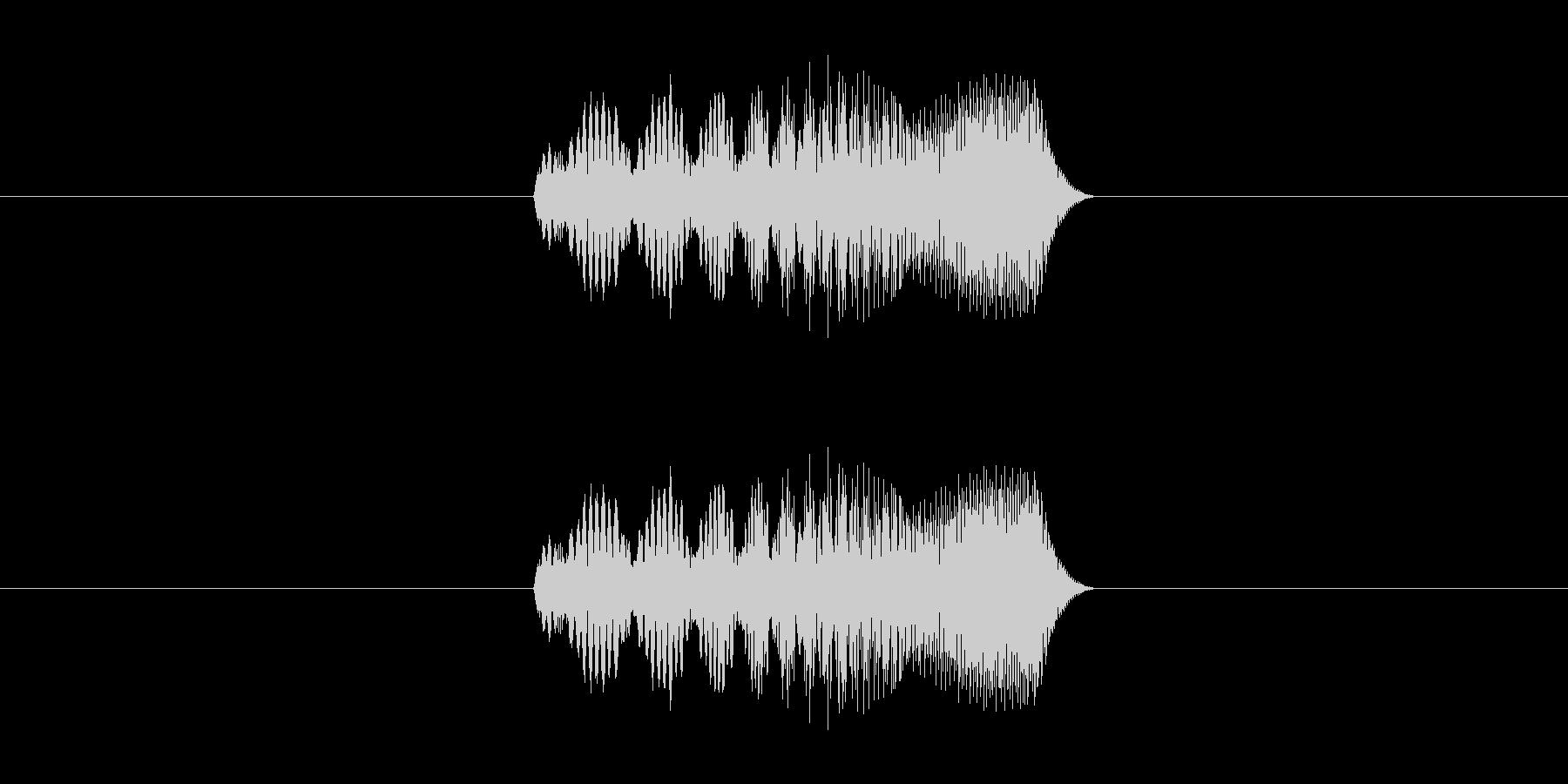 スマホアプリ等の決定音の未再生の波形