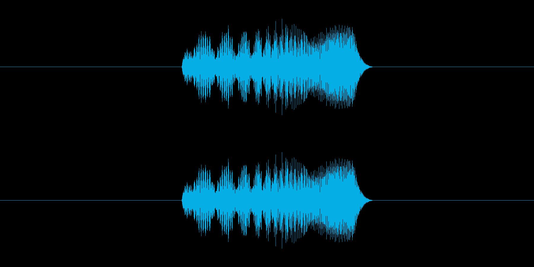 スマホアプリ等の決定音の再生済みの波形