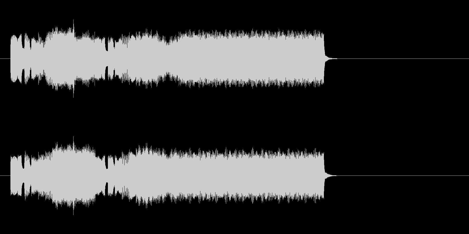 ファミコン風の勝利ファンファーレの未再生の波形