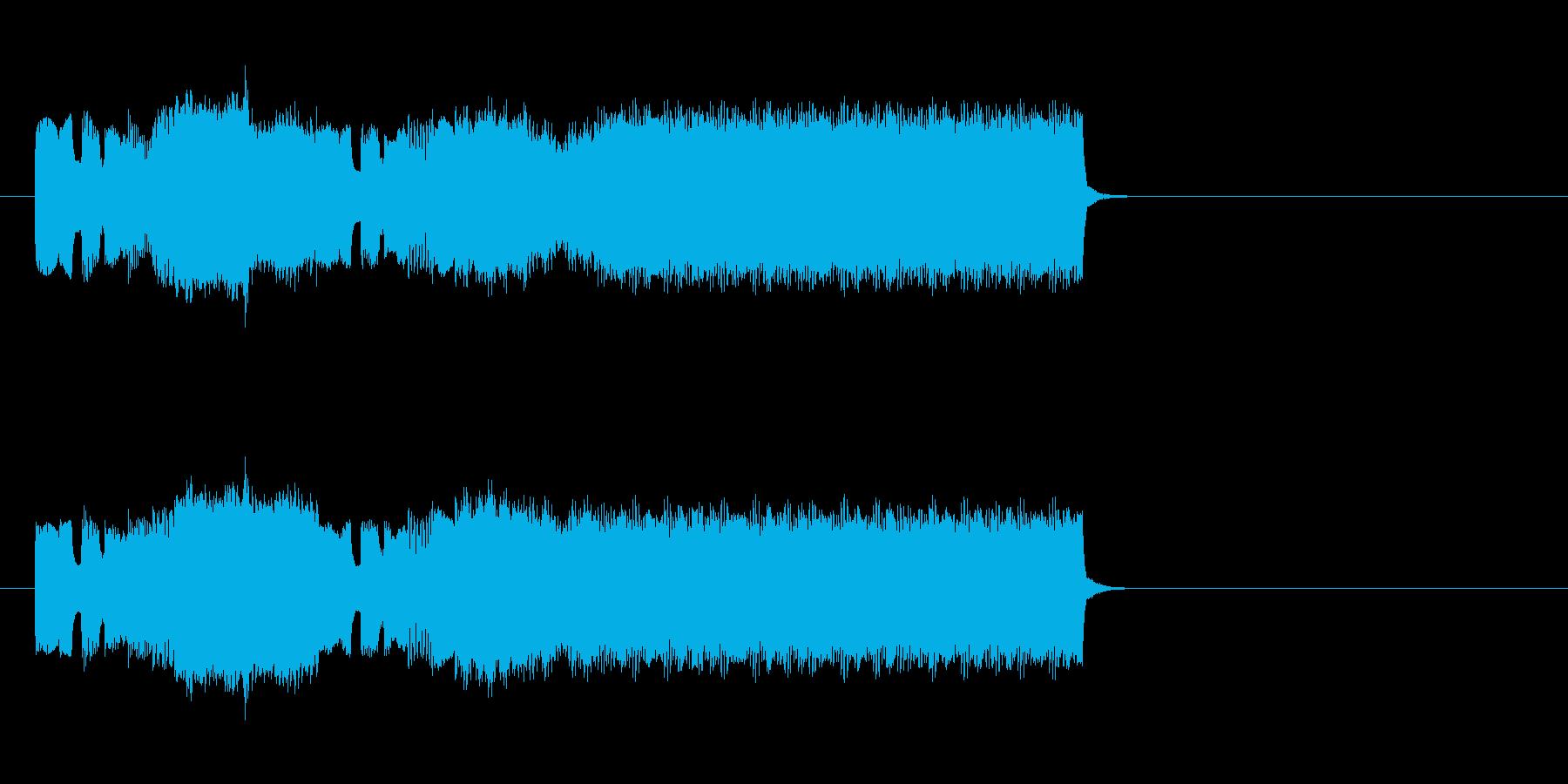 ファミコン風の勝利ファンファーレの再生済みの波形