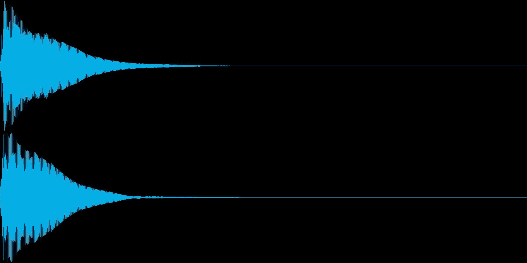 カーソル音5【コンッ】の再生済みの波形
