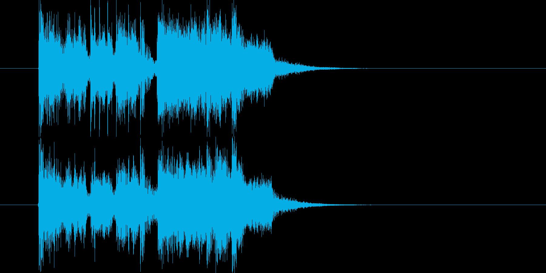 エレキギターの音がかっこいい短い効果音の再生済みの波形