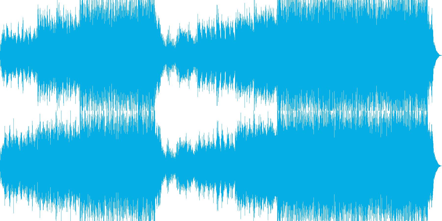 イージーリスニングー気球の再生済みの波形
