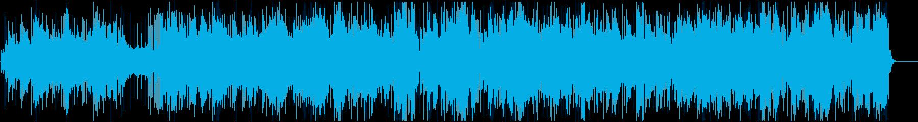 スポーツのダイジェストに合うBGMの再生済みの波形