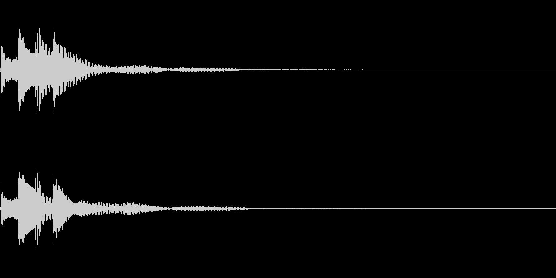 サウンドロゴ27_ピアノAHの未再生の波形