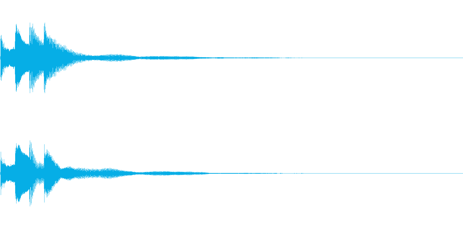 サウンドロゴ27_ピアノAHの再生済みの波形