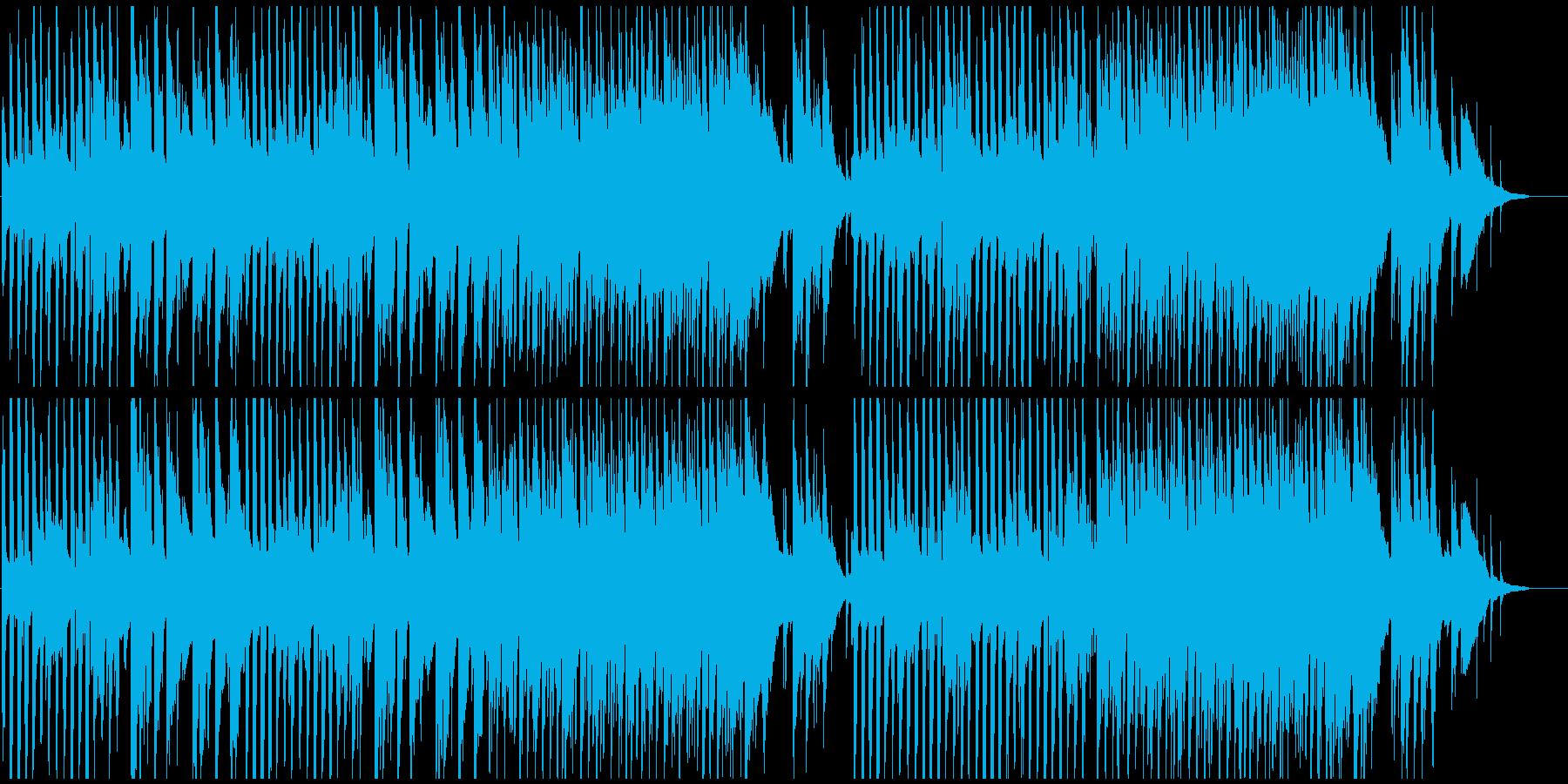 エンディング映像にギター 落ち着きジャズの再生済みの波形