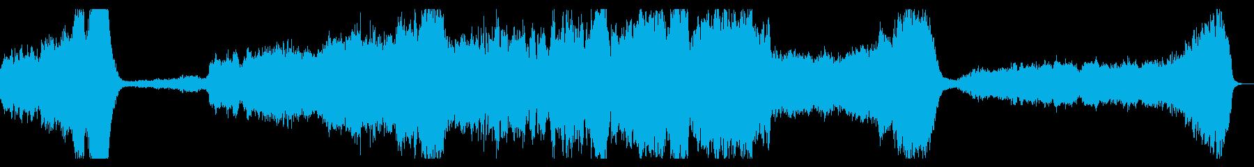 ダークファンタジー系 オーケストラBGMの再生済みの波形