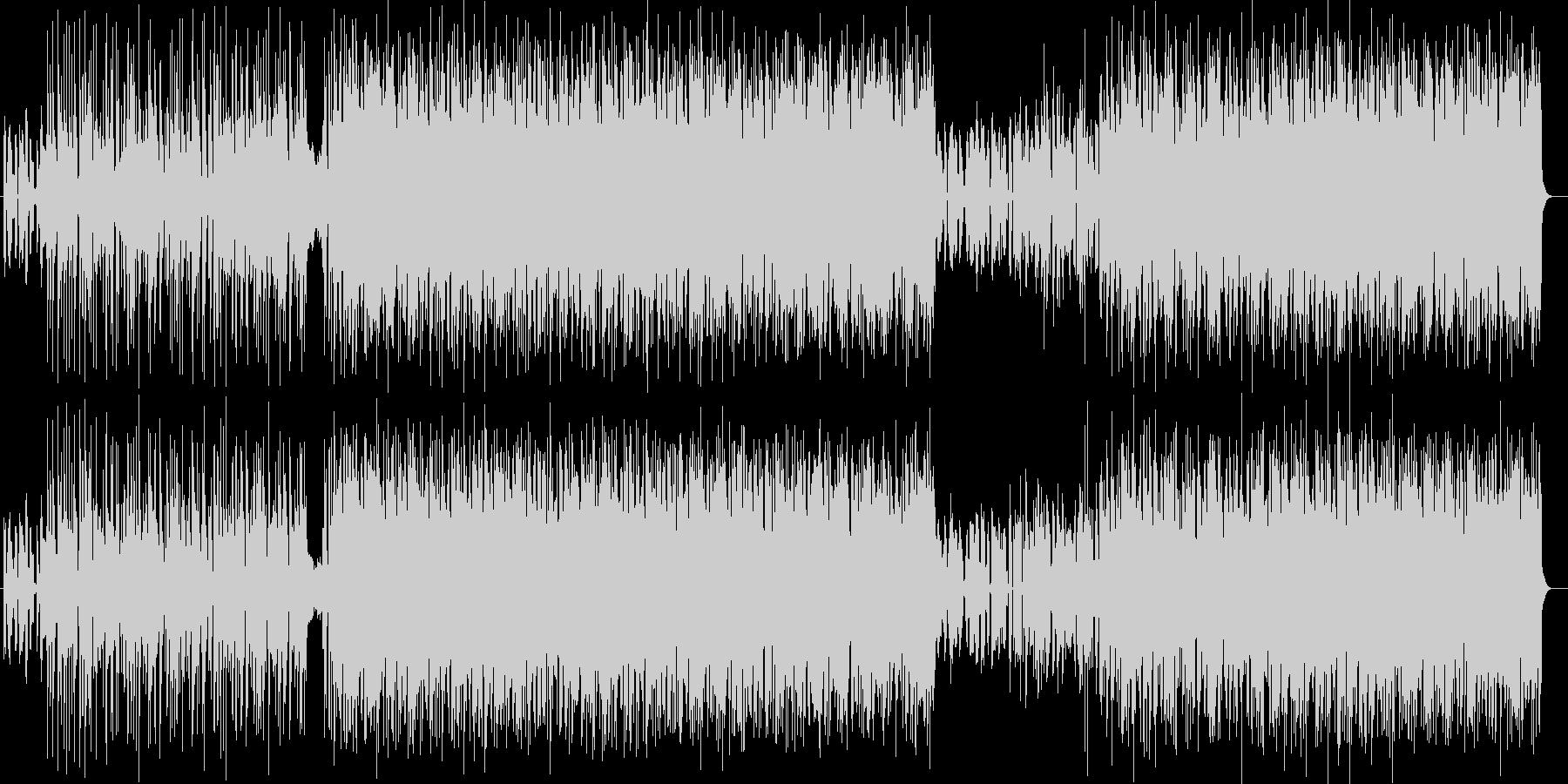 ダークでワイルドでクールなエレキロックの未再生の波形