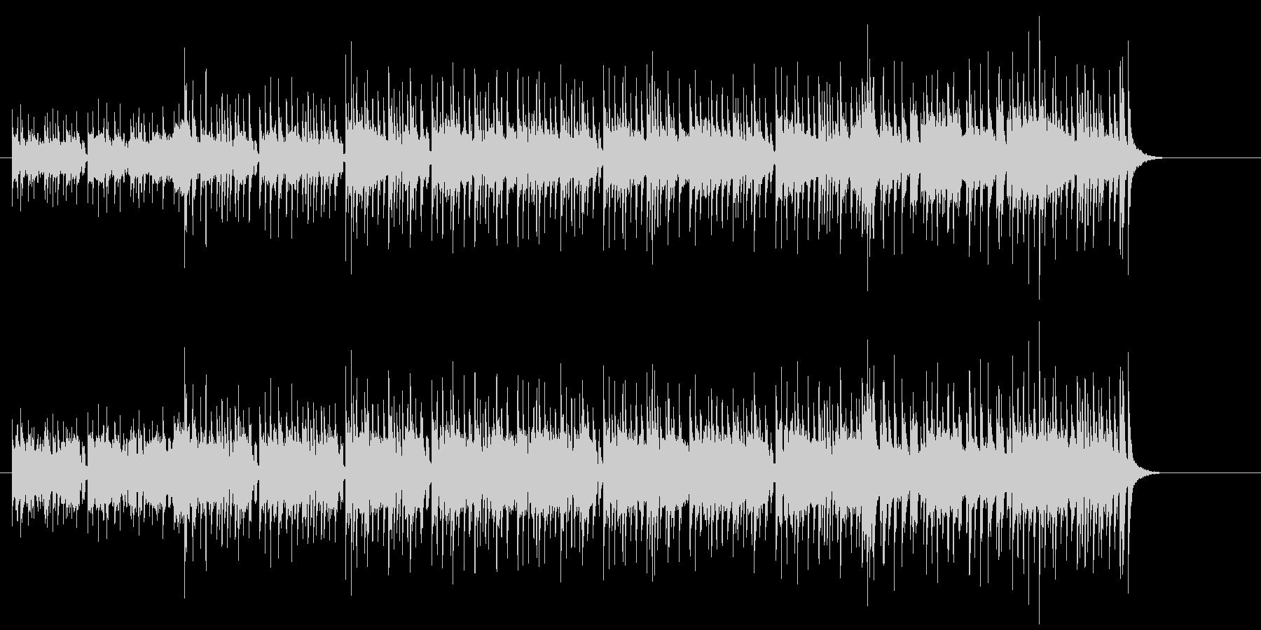 チョッパー・ベースが弾むフュージョンの未再生の波形