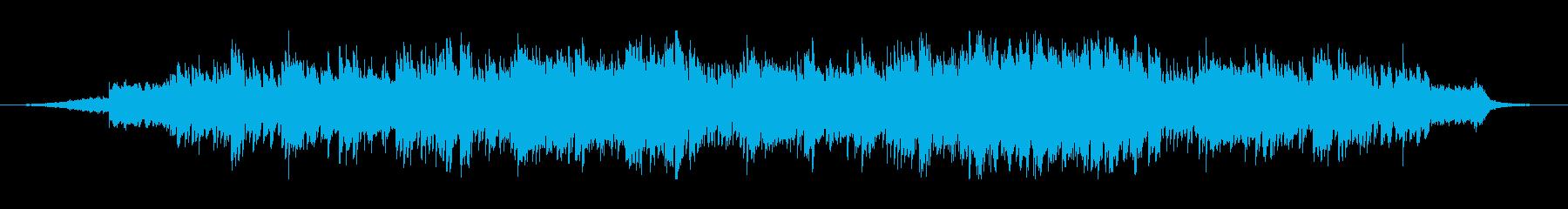 始まりを予感させるピアノと電子音の楽曲の再生済みの波形