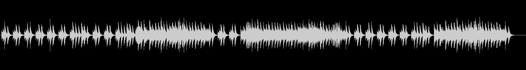やさしくてリラックスできるオルゴール音楽の未再生の波形