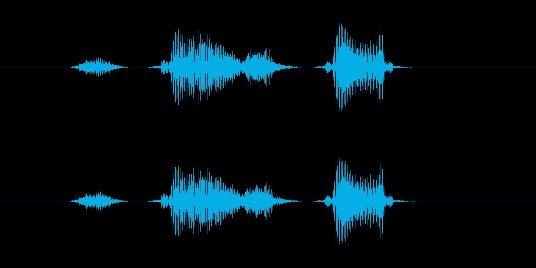 スタスタの再生済みの波形