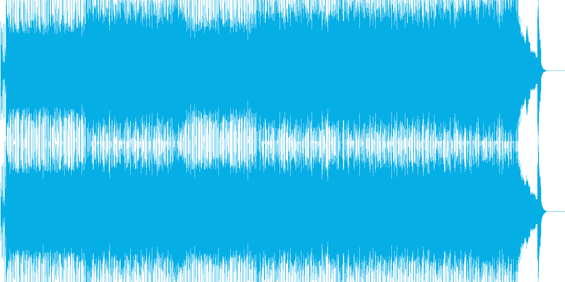 格闘・スポーツ・レースに使えるロックの再生済みの波形