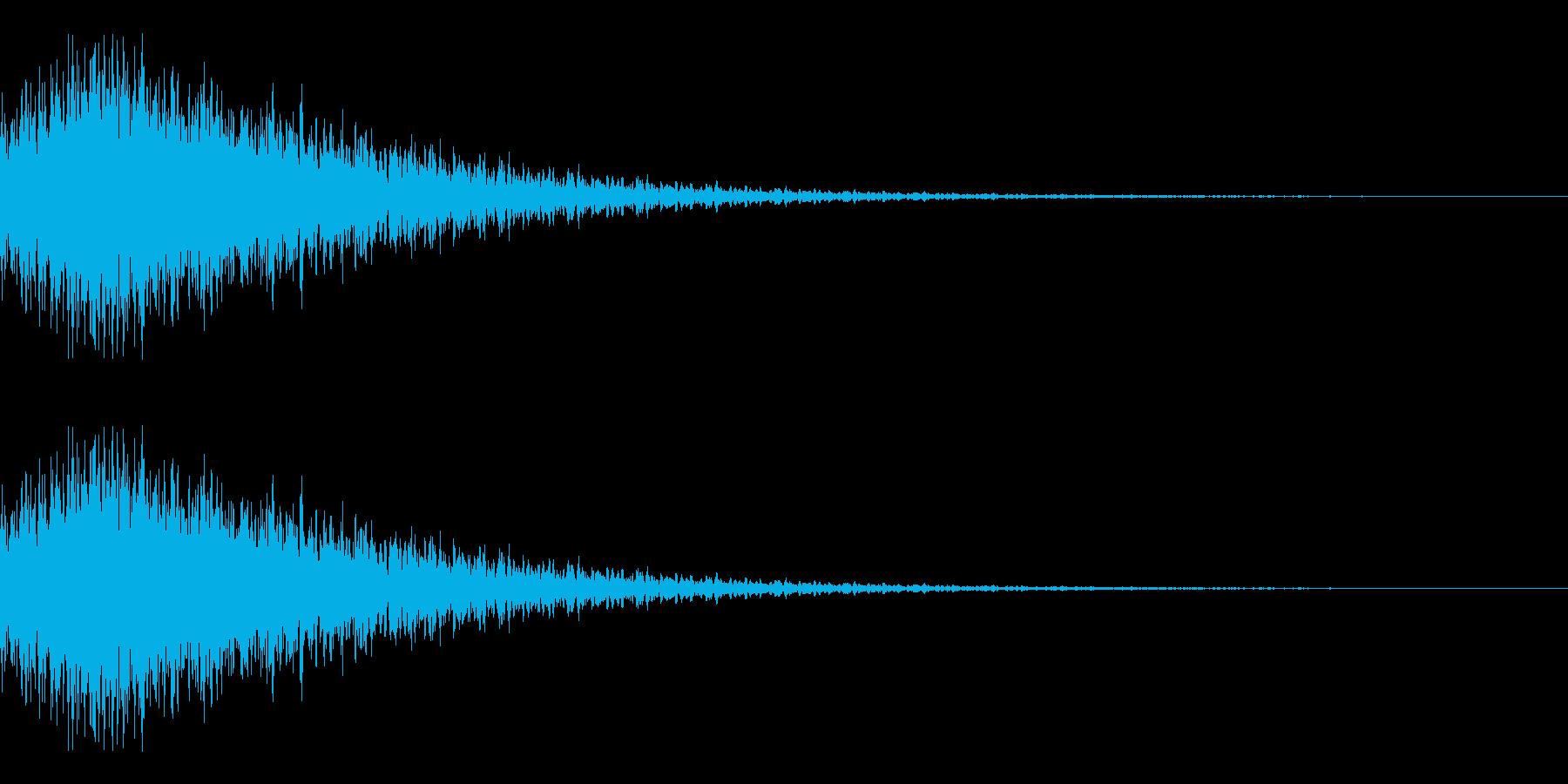 特撮にありそうな変身音の再生済みの波形