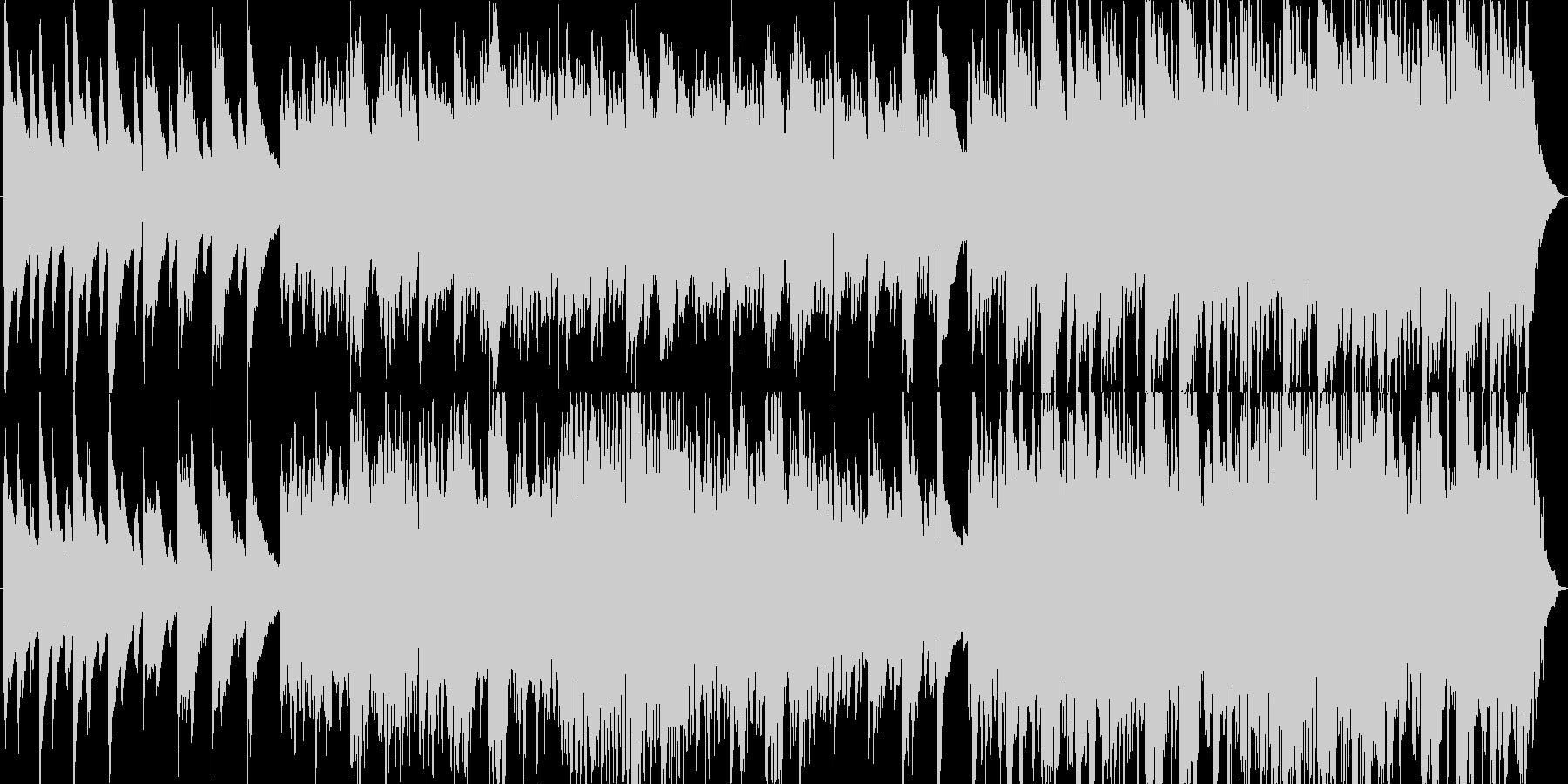 綺麗なヒーリングピアノ曲の未再生の波形