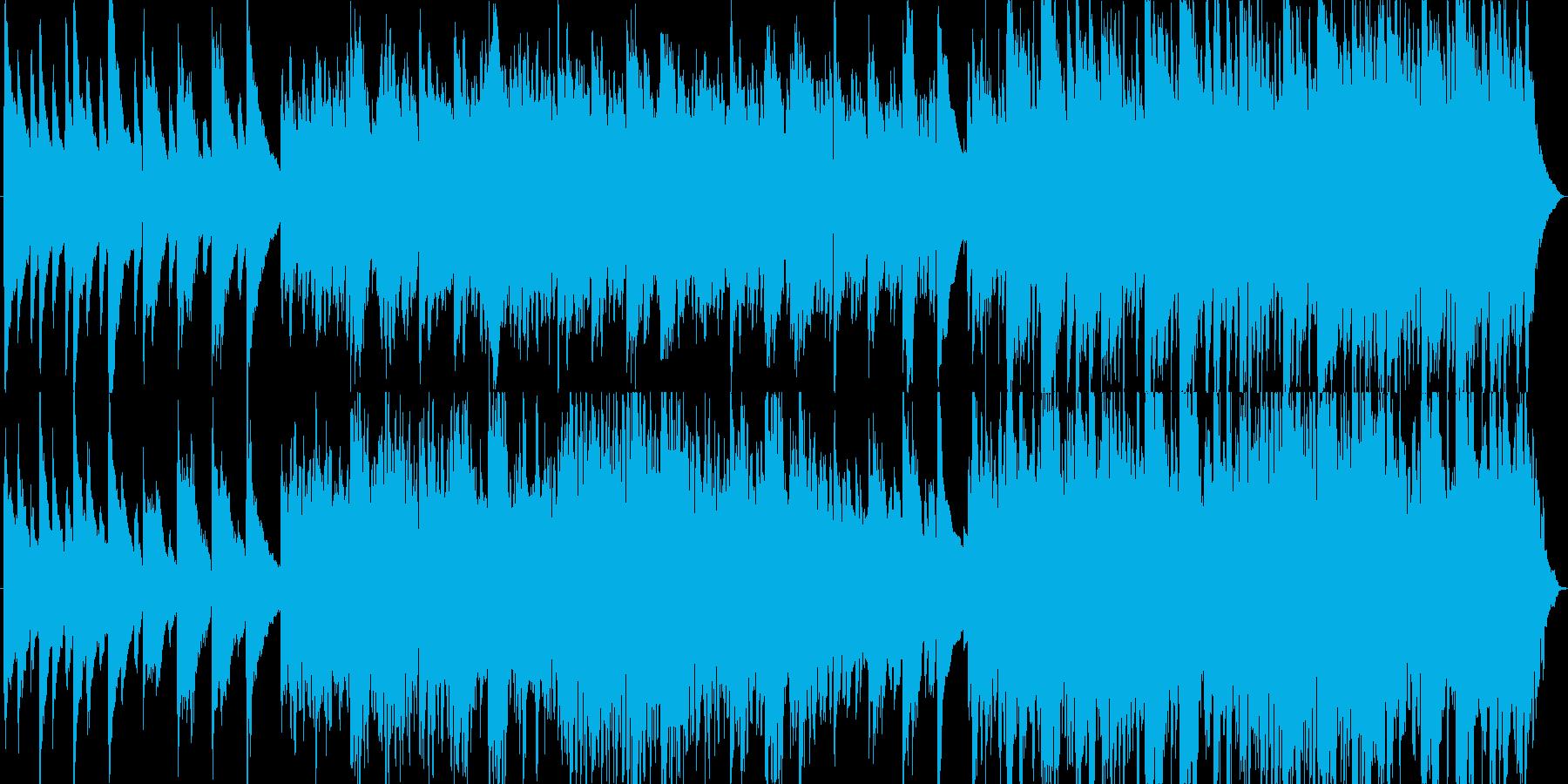 綺麗なヒーリングピアノ曲の再生済みの波形