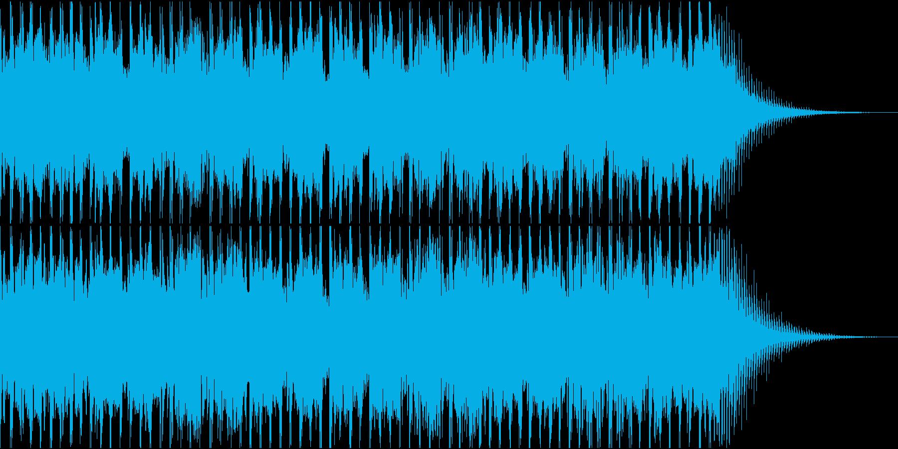 近未来の雰囲気テクノの再生済みの波形