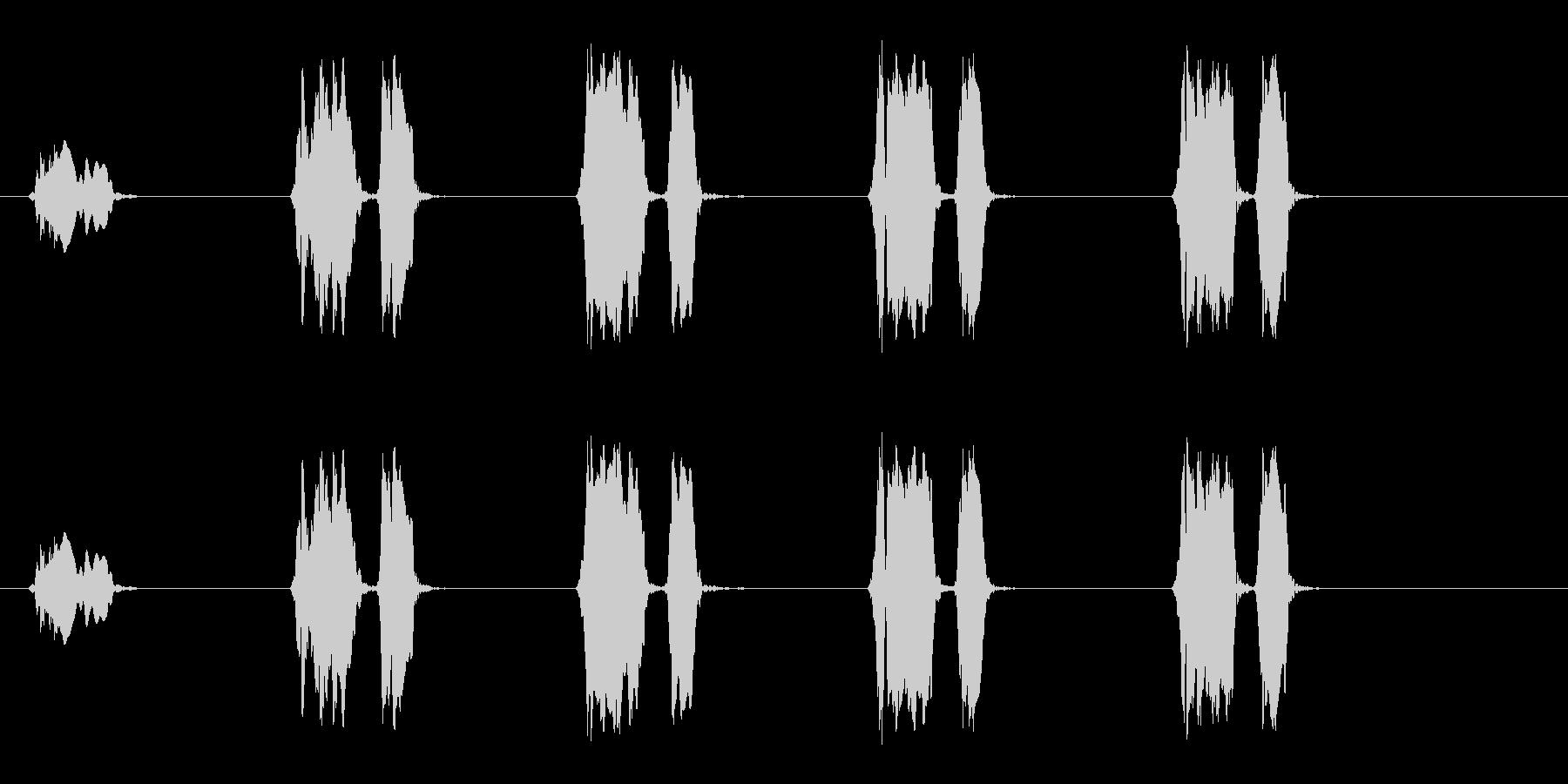 ウズラの鳴き声05-01の未再生の波形