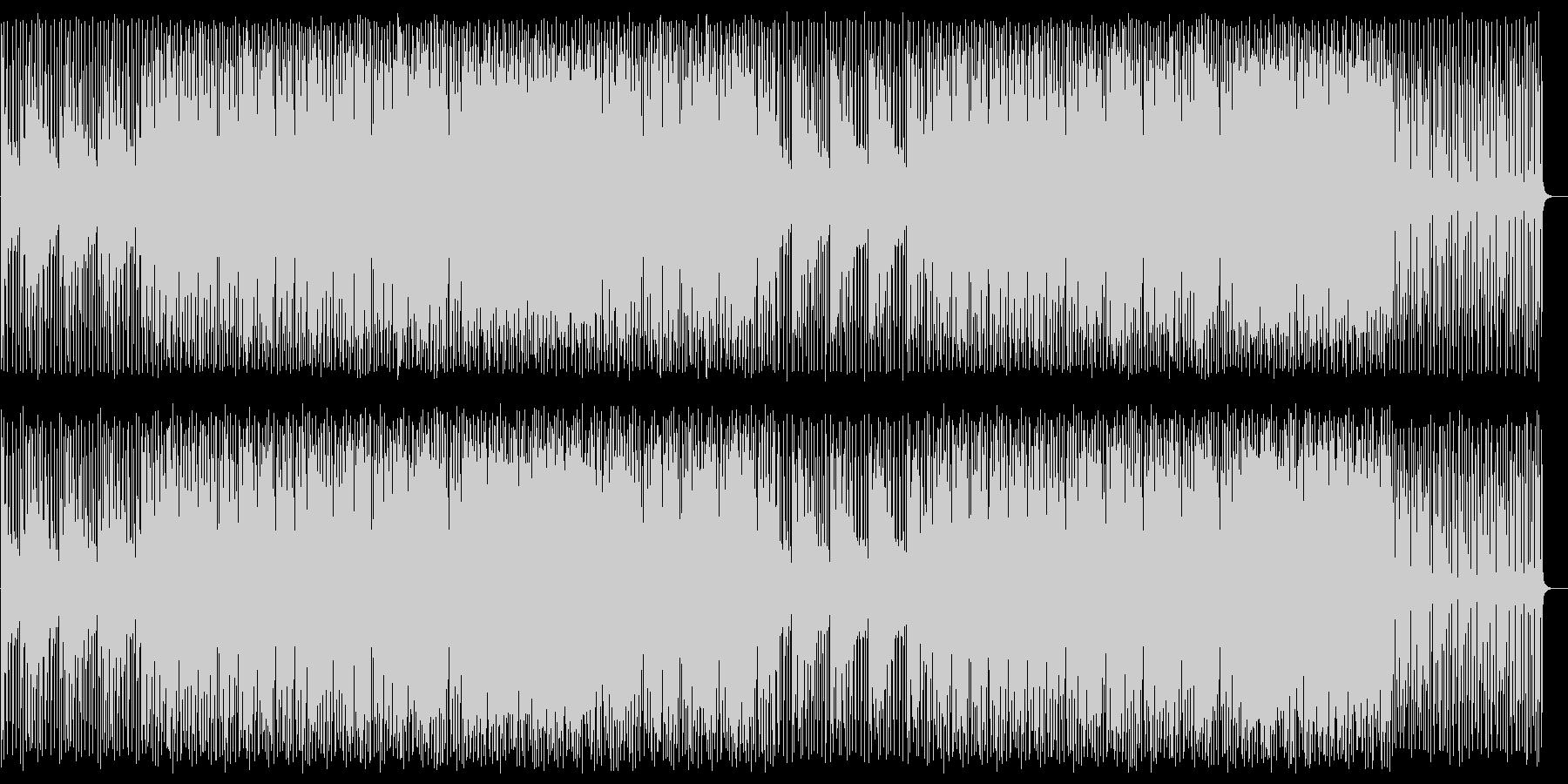 緩やかで穏やかなシンセエレキサウンドの未再生の波形